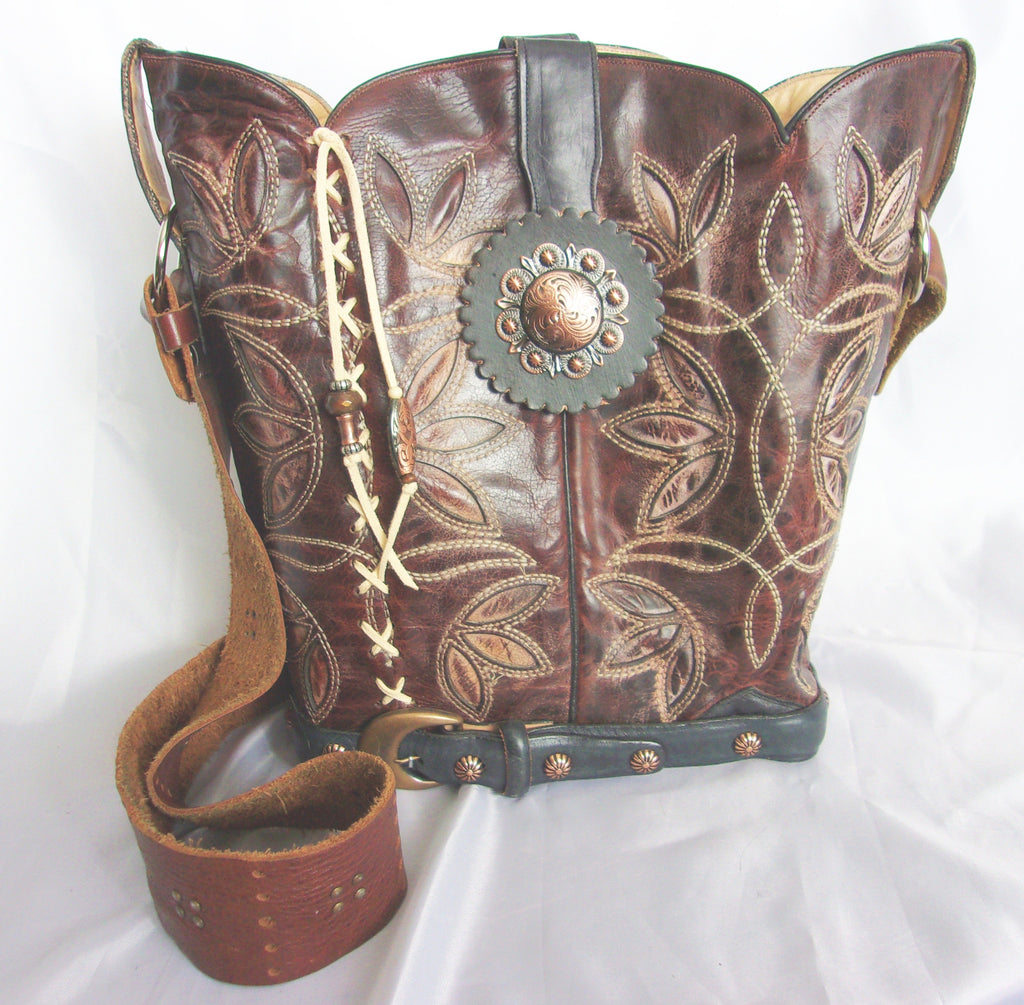Cowboy Boot Bucket Bag BK07 - Unique Leather Handbags and Totes by Chris Thompson