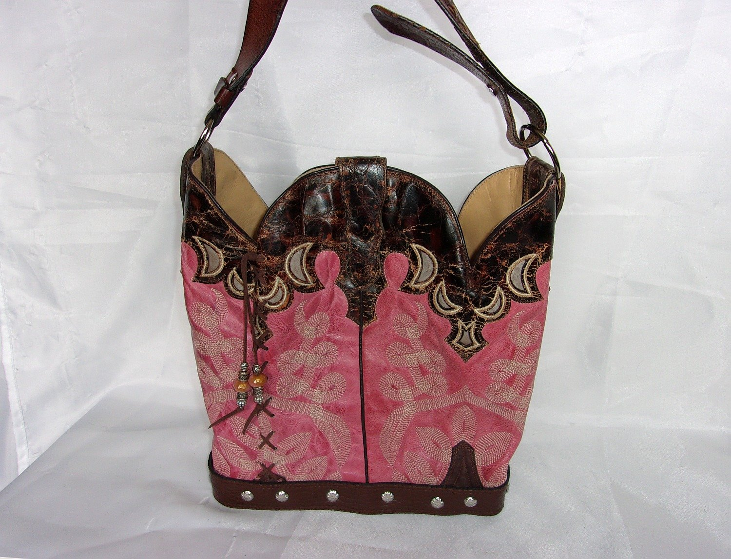 Cowboy Boot Purse Bucket Bag BK16 - Cowboy Boot Purses by Chris Thompson for Distinctive Western Fashion