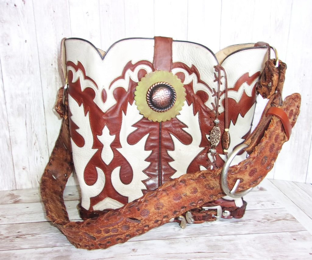 Cowboy Boot Purse Bucket Bag BK21 - Cowboy Boot Purses by Chris Thompson for Distinctive Western Fashion