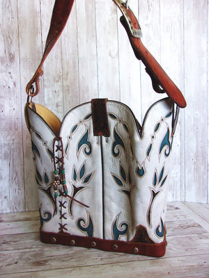 Cowboy Boot Purse Bucket Bag BK25 - Cowboy Boot Purses by Chris Thompson for Distinctive Western Fashion