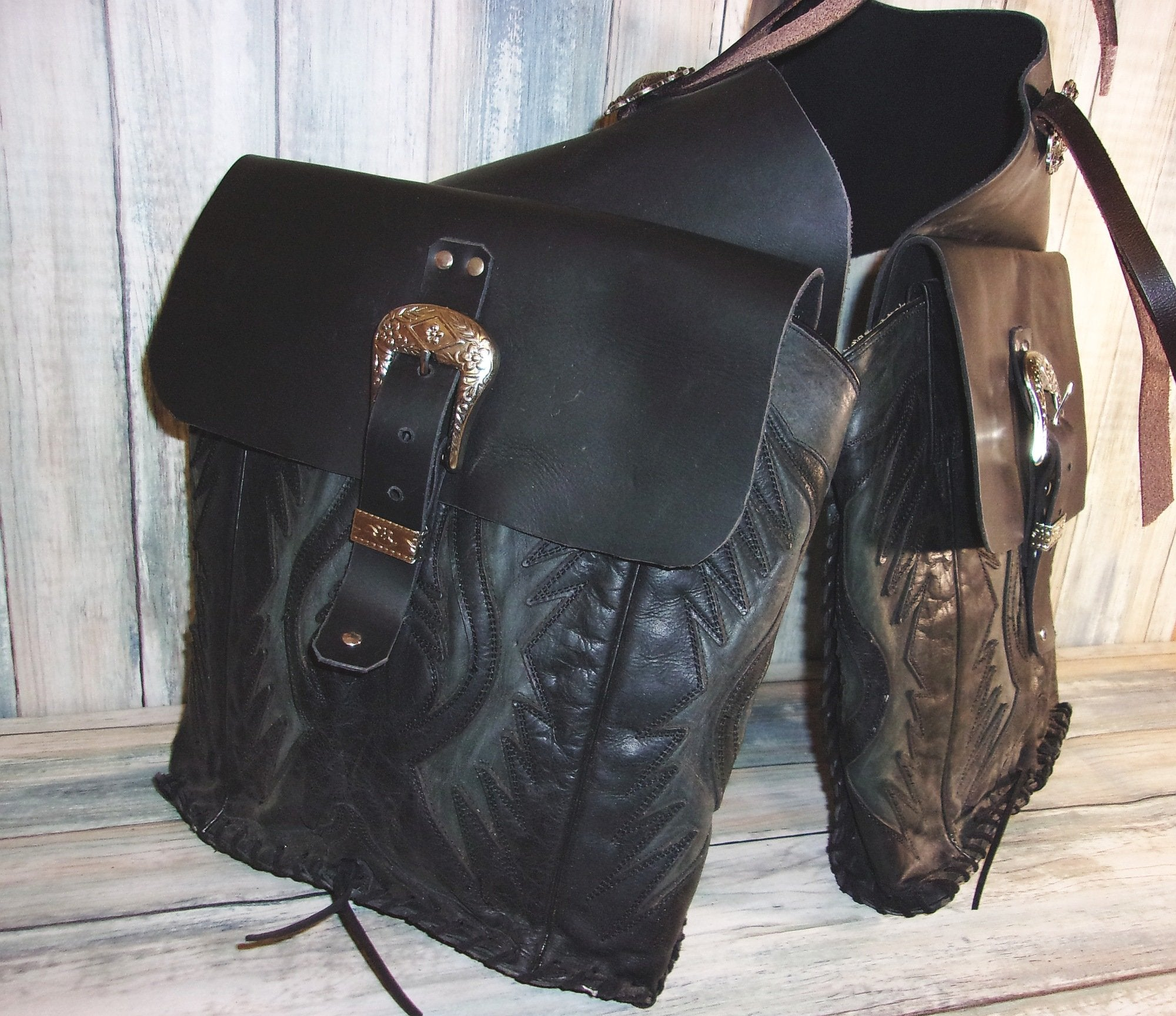 Equine Saddle-Bags - Riding Saddle Bags - Handcrafted Saddlebags cowboy boot purses, western fringe purse, handmade leather purses, boot purse, handmade western purse, custom leather handbags Chris Thompson Bags