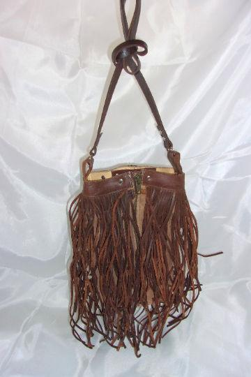 Brown Berry Fringe Bag - Distinctive Western Handbags, Purses and Totes