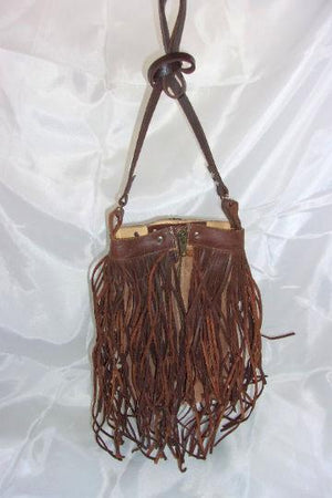Brown Berry Fringe Bag - cowboy boot purses - western purses - western handbags - western bags Chris Thompson Bags