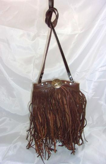 Brown Star Fringe Bag - Distinctive Western Handbags, Purses and Totes