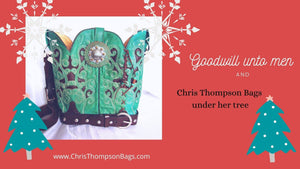 Hand-Crafted Handbags and Totes made from Cowboy Boots cowboy boot purses and handcrafted western purses and handbags Chris Thompson Bags
