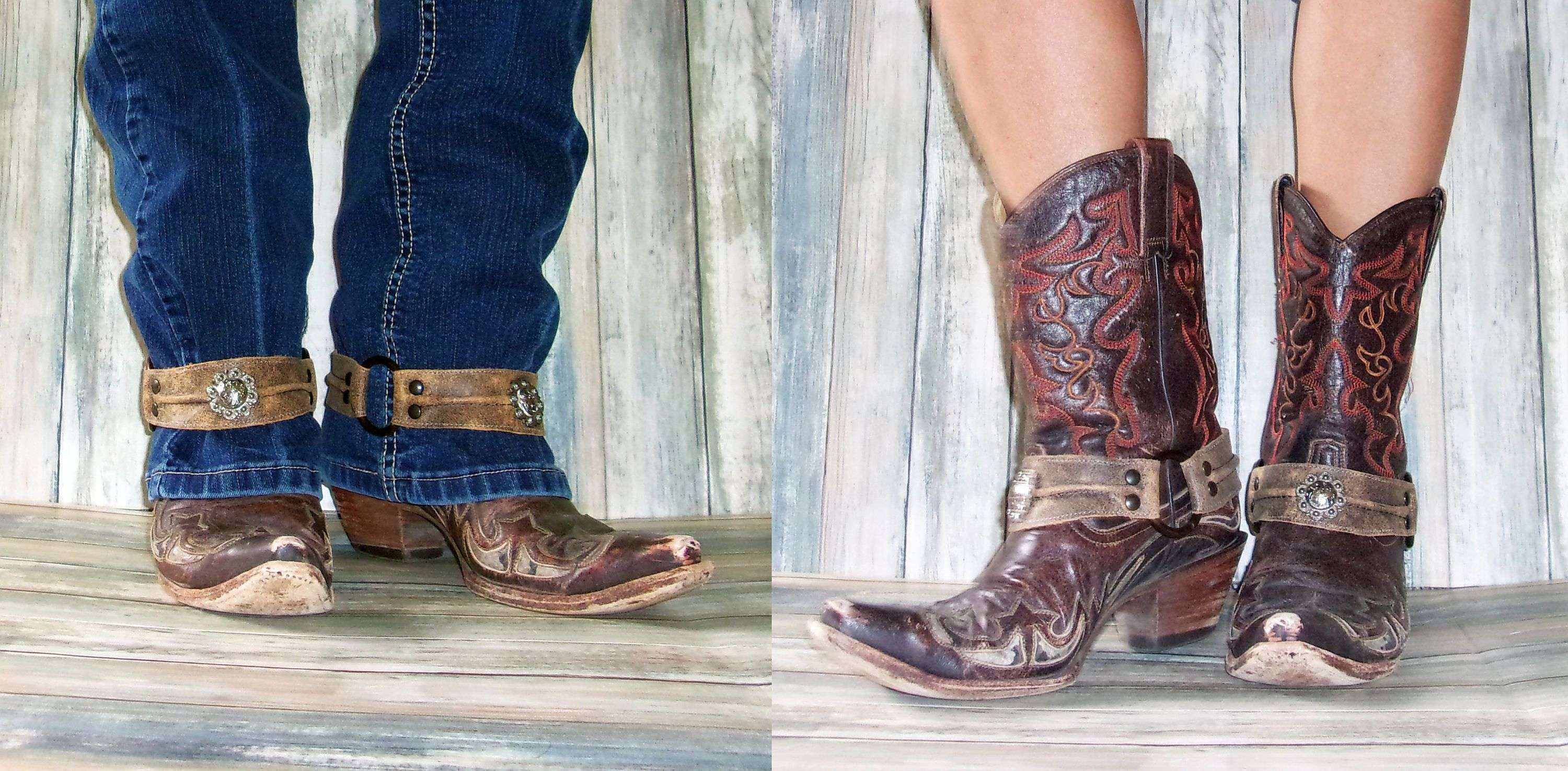 Boot Decorations - Boot Wraps - Boot Bling - Boot Jewelry (Single) wr44 cowboy boot purses and handcrafted western purses and handbags Chris Thompson Bags