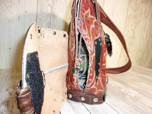 Brown Concealed Carry Cowboy Boot Purse CB30 - Distinctive Western Handbags, Purses and Totes