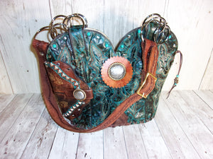 Turquoise Concealed Carry Cowboy Boot Purse CB34 - Distinctive Western Handbags, Purses and Totes