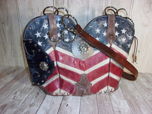 Americana Concealed Carry Cowboy Boot Purse CB35 - Distinctive Western Handbags, Purses and Totes