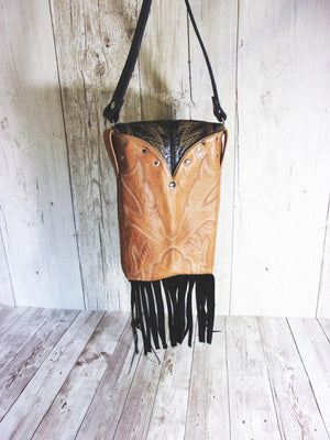 Concealed Carry Cross-Body Purse CB39 - handcrafted handbags - cowboy boot purses - western purses - western handbags - western conceal carry purses - unique swing arm bags - Chris Thompson Bags