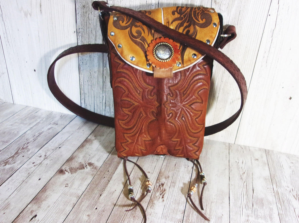 Western Concealed Carry Purse - CC Purse - Western Gun Purse - Crossbody Conceal Carry Purse CB44 cowboy boot purses, western fringe purse, handmade leather purses, boot purse, handmade western purse, custom leather handbags Chris Thompson Bags