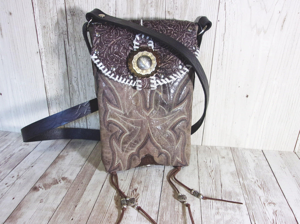 Western Concealed Carry Purse - CC Purse - Western Gun Purse - Crossbody Conceal Carry Purse CB45 cowboy boot purses, western fringe purse, handmade leather purses, boot purse, handmade western purse, custom leather handbags Chris Thompson Bags