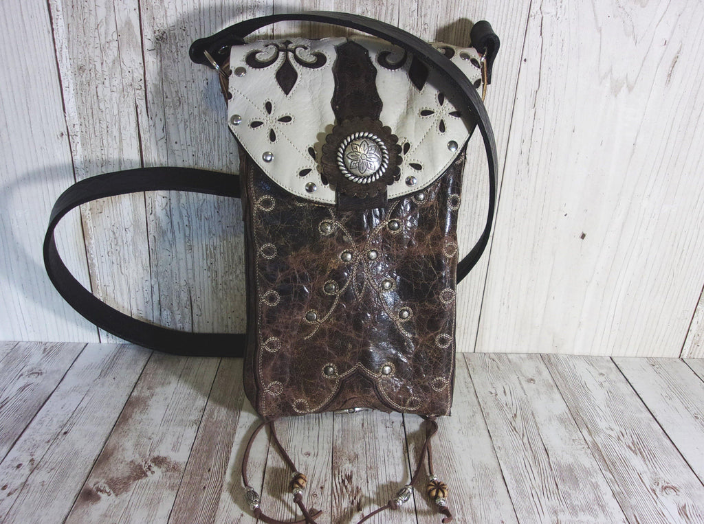 Western Concealed Carry Purse - CC Purse - Western Gun Purse - Crossbody Conceal Carry Purse CB47 cowboy boot purses, western fringe purse, handmade leather purses, boot purse, handmade western purse, custom leather handbags Chris Thompson Bags