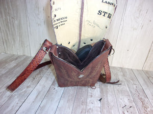 Concealed Carry Cross-Body Purse CB58 - handcrafted handbags - cowboy boot purses - western purses - western handbags - western conceal carry purses - unique swing arm bags - Chris Thompson Bags