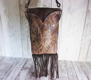 Concealed Carry Cross-Body Purse CB59 - handcrafted handbags - cowboy boot purses - western purses - western handbags - western conceal carry purses - unique swing arm bags - Chris Thompson Bags
