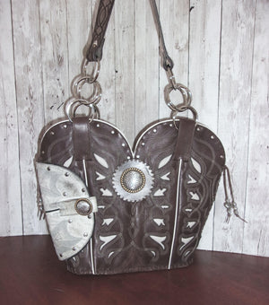 Concealed Carry Cowboy Boot Purse CB60 - handcrafted handbags - cowboy boot purses - western purses - western handbags - western conceal carry purses - unique swing arm bags - Chris Thompson Bags