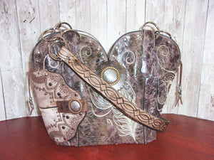 Western Concealed Carry Purse - CC Purse - Western Gun Purse - Handcrafted Conceal Carry Purse - Cowboy Boot Purse CB61 cowboy boot purses, western fringe purse, handmade leather purses, boot purse, handmade western purse, custom leather handbags Chris Thompson Bags