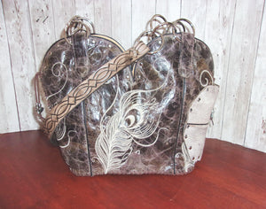 Concealed Carry Cowboy Boot Purse CB61 - handcrafted handbags - cowboy boot purses - western purses - western handbags - western conceal carry purses - unique swing arm bags - Chris Thompson Bags