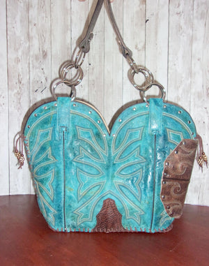 Western Concealed Carry Purse - CC Purse - Western Gun Purse - Handcrafted Conceal Carry Purse - Cowboy Boot Purse CB65 cowboy boot purses, western fringe purse, handmade leather purses, boot purse, handmade western purse, custom leather handbags Chris Thompson Bags
