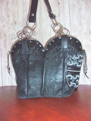 Concealed Carry Cowboy Boot Purse CB70 - handcrafted handbags - cowboy boot purses - western purses - western handbags - western conceal carry purses - unique swing arm bags - Chris Thompson Bags