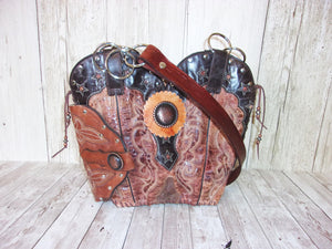 Western Concealed Carry Purse - CC Purse - Western Gun Purse - Handcrafted Conceal Carry Purse - Cowboy Boot Purse CB75