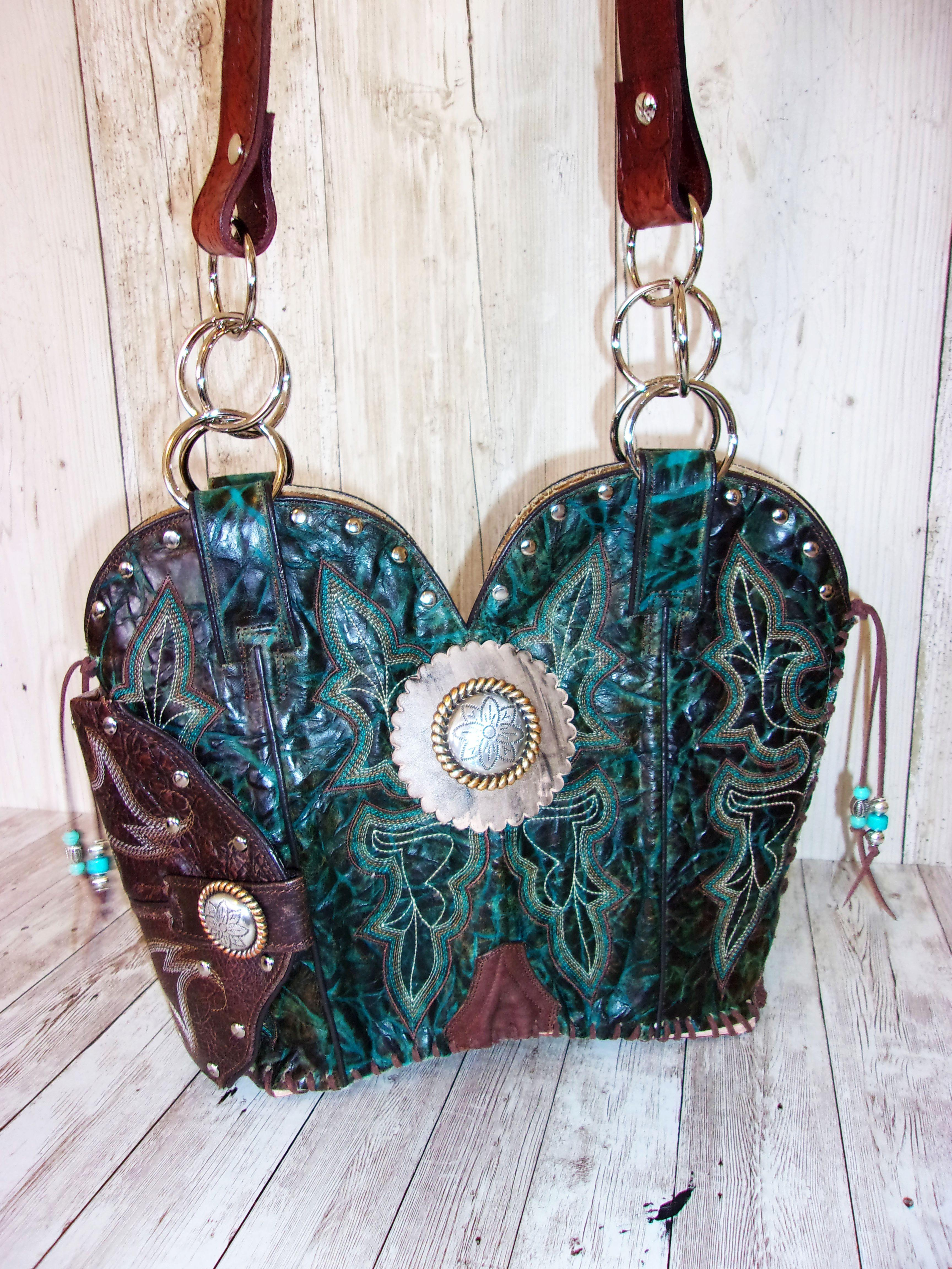 Western Concealed Carry Purse - CC Purse - Western Gun Purse - Handcrafted Conceal Carry Purse - Cowboy Boot Purse CB83 cowboy boot purses, western fringe purse, handmade leather purses, boot purse, handmade western purse, custom leather handbags Chris Thompson Bags