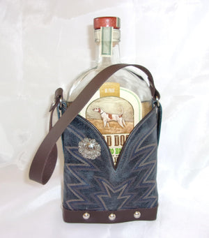 Leather Whiskey Tote CR52 - Unique Leather Handbags and Totes by Chris Thompson