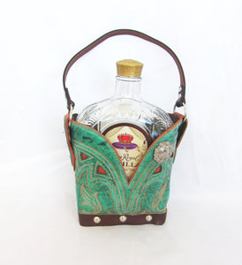 Leather Whiskey Tote CR69 - Cowboy Boot Purses by Chris Thompson for Distinctive Western Fashion