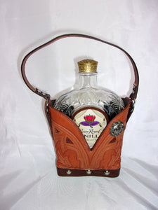 Leather Whiskey Tote CR77 - Cowboy Boot Purses by Chris Thompson for Distinctive Western Fashion