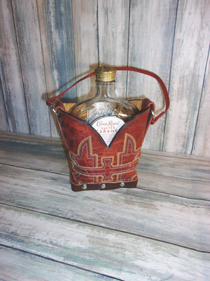 Leather Whiskey Tote CR79 - Distinctive Western Handbags, Purses and Totes