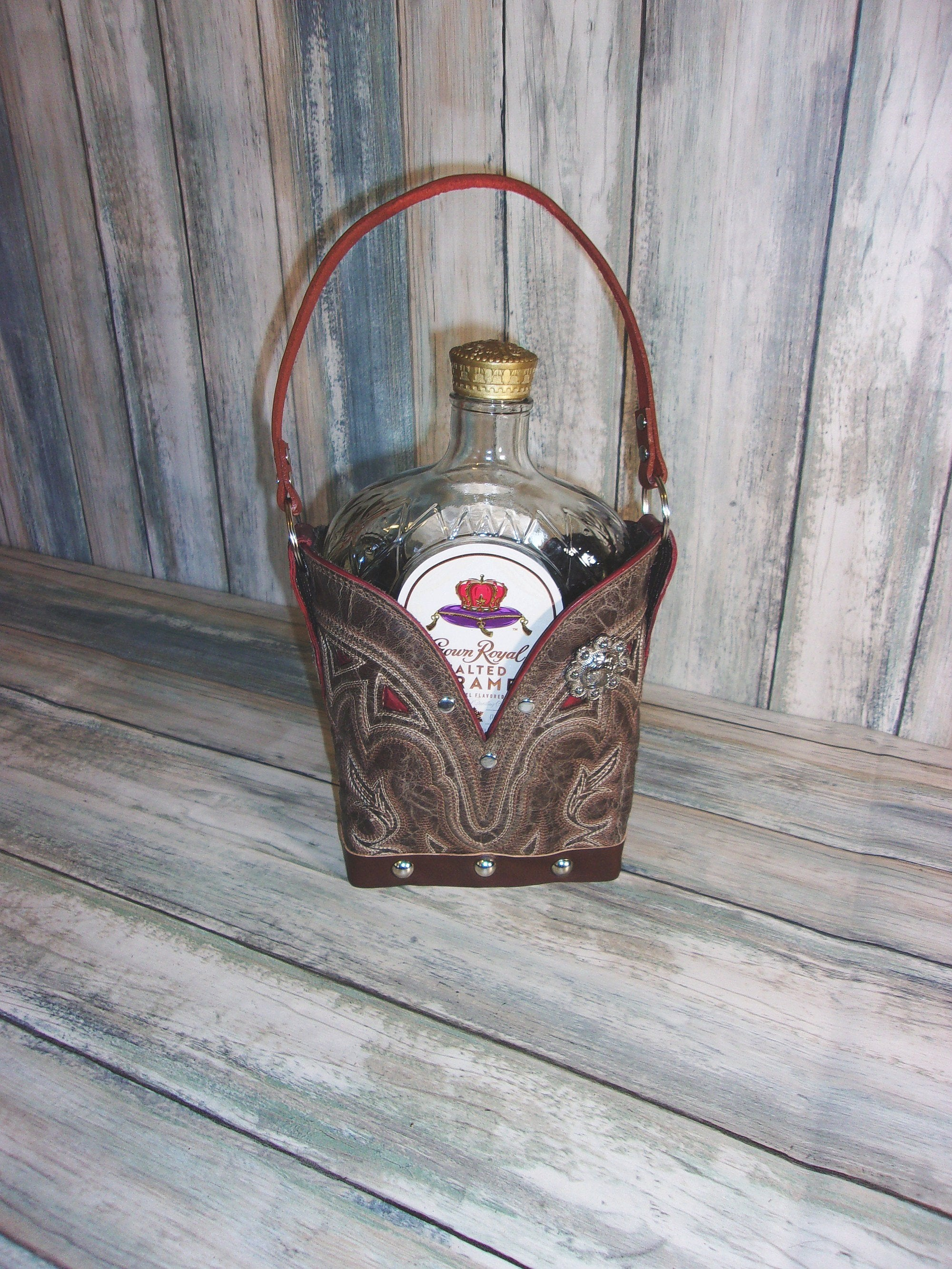 Leather Whiskey Tote CR81.2 - Distinctive Western Handbags, Purses and Totes