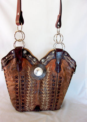 Cowboy Boot Purse - Handcrafted Western Handbag - Leather Western Purse DB301 cowboy boot purses and handcrafted western purses and handbags Chris Thompson Bags