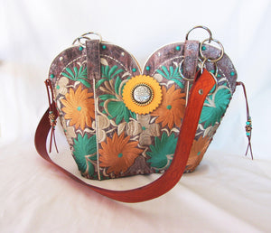 Cowboy Boot Purse - Handcrafted Western Handbag - Leather Western Purse DB304 cowboy boot purses and handcrafted western purses and handbags Chris Thompson Bags