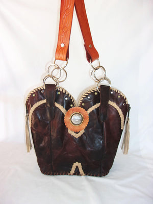 Cowboy Boot Purse - Handcrafted Western Handbag - Leather Western Purse DB316 cowboy boot purses and handcrafted western purses and handbags Chris Thompson Bags