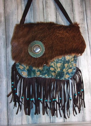 Hair on Hide Purse - Cowboy Boot Purse - Cowhide Purse - Western Boho Purse FT01 cowboy boot purses, western fringe purse, handmade leather purses, boot purse, handmade western purse, custom leather handbags Chris Thompson Bags