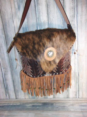Hair on Hide Purse - Cowboy Boot Purse - Cowhide Purse - Western Boho Purse FT03 cowboy boot purses, western fringe purse, handmade leather purses, boot purse, handmade western purse, custom leather handbags Chris Thompson Bags