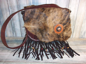 Flap-Top Fringe Boho Bag FT04 - Distinctive Western Handbags, Purses and Totes