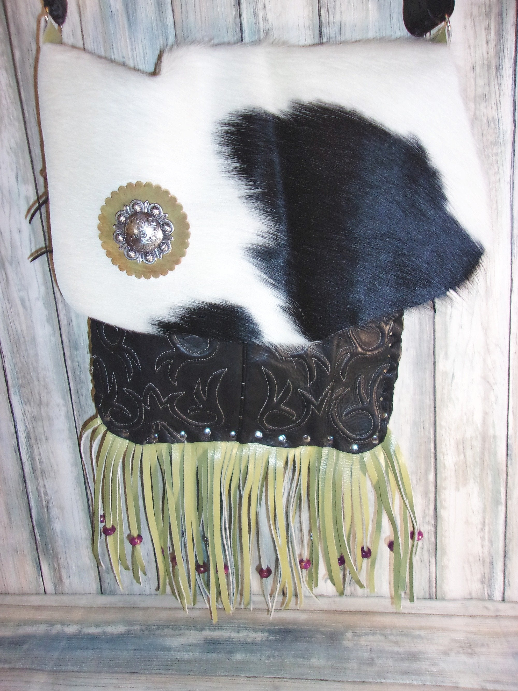 Flap-Top Fringe Boho Bag FT06 - Distinctive Western Handbags, Purses and Totes