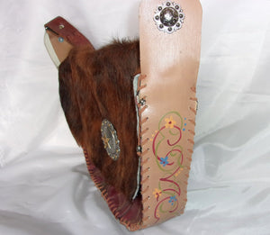 Hair-on-Hide Hand-Painted Flap Top Bag FX15 - Cowboy Boot Purses by Chris Thompson for Distinctive Western Fashion