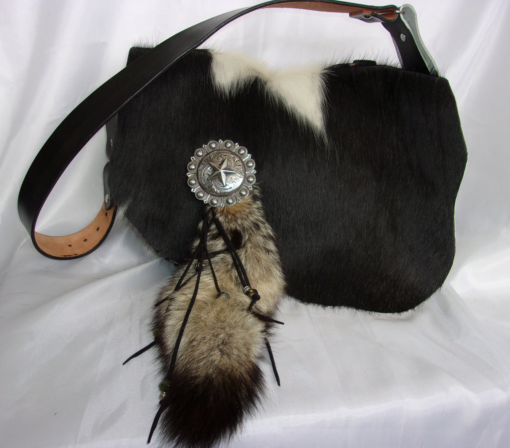 Fox Tail Hand-Painted Flap Top Bag SB18 - Cowboy Boot Purses by Chris Thompson for Distinctive Western Fashion