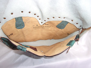 Hair-on-Hide Hand-Painted Flap Top Bag SB21 - Cowboy Boot Purses by Chris Thompson for Distinctive Western Fashion
