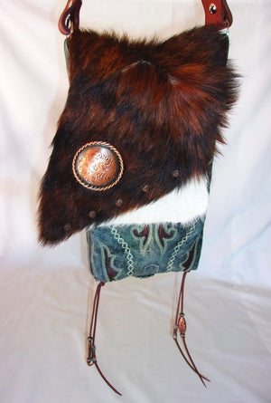 Hair on Hide Bag HH06 - Cowboy Boot Purses by Chris Thompson for Distinctive Western Fashion