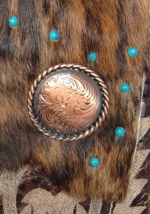 Hair on Hide Bag - Cowboy Boot Purse - Cowhide Purse - Handcrafted Crossbody Purse HH14