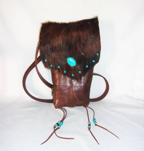 Hair on Hide Bag - Cowboy Boot Purse - Cowhide Purse - Handcrafted Crossbody Purse HH15