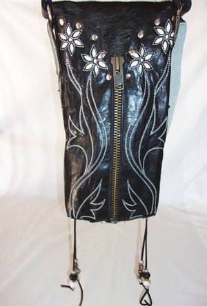 Hair on Hide Bag - Cowboy Boot Purse - Cowhide Purse - Handcrafted Crossbody Purse HH17