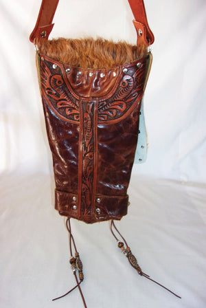Hair on Hide Bag - Cowboy Boot Purse - Cowhide Purse - Handcrafted Crossbody Purse HH18