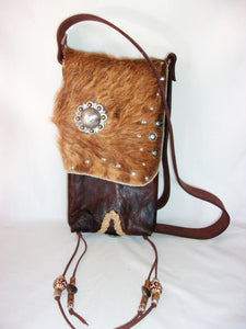Hair on Hide Bag - Cowboy Boot Purse - Cowhide Purse - Handcrafted Crossbody Purse HH21