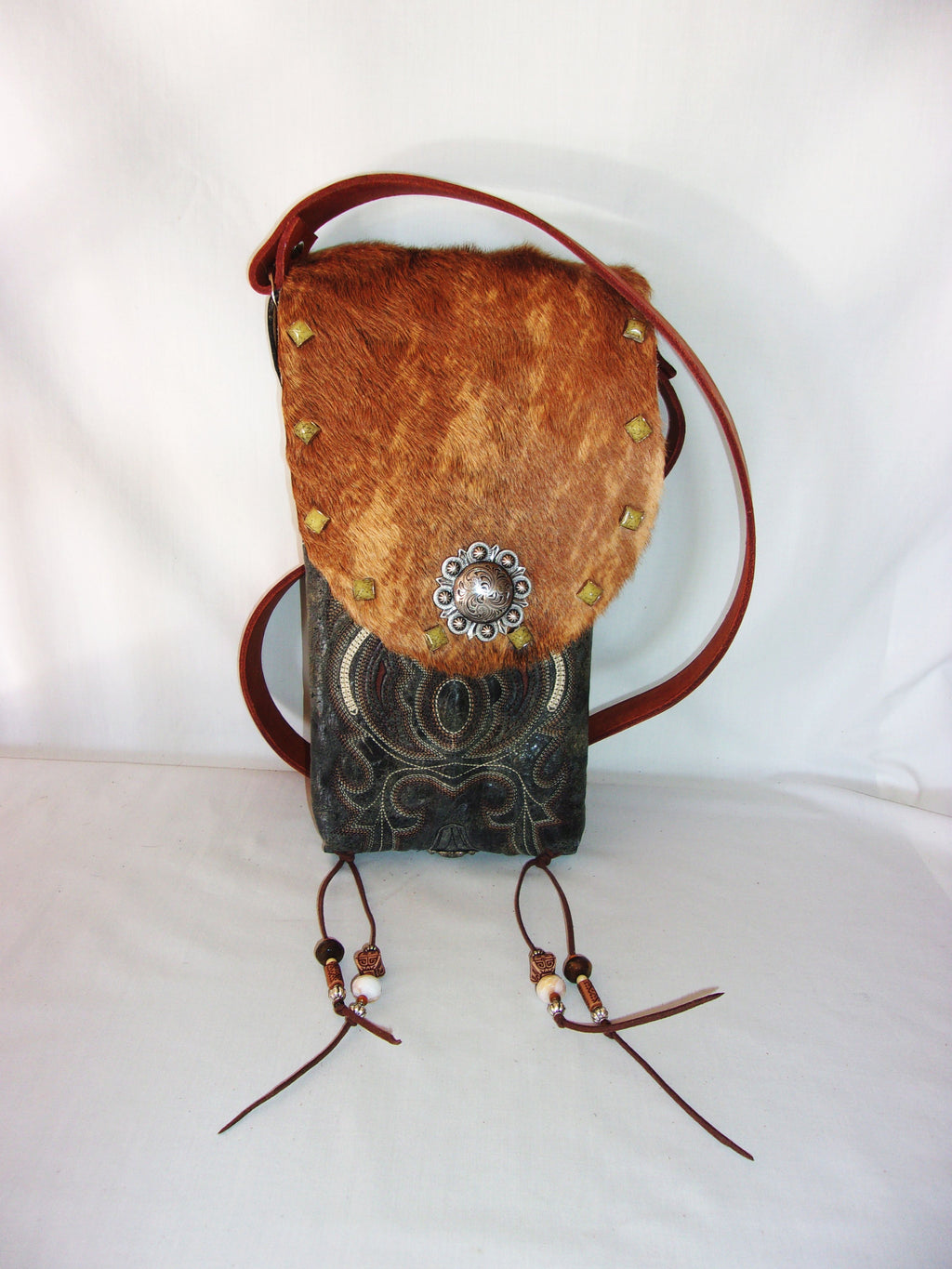 Hair on Hide Bag - Cowboy Boot Purse - Cowhide Purse - Handcrafted Crossbody Purse HH24