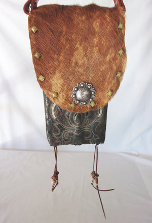 Hair on Hide Bag HH24 - Cowboy Boot Purses by Chris Thompson for Distinctive Western Fashion