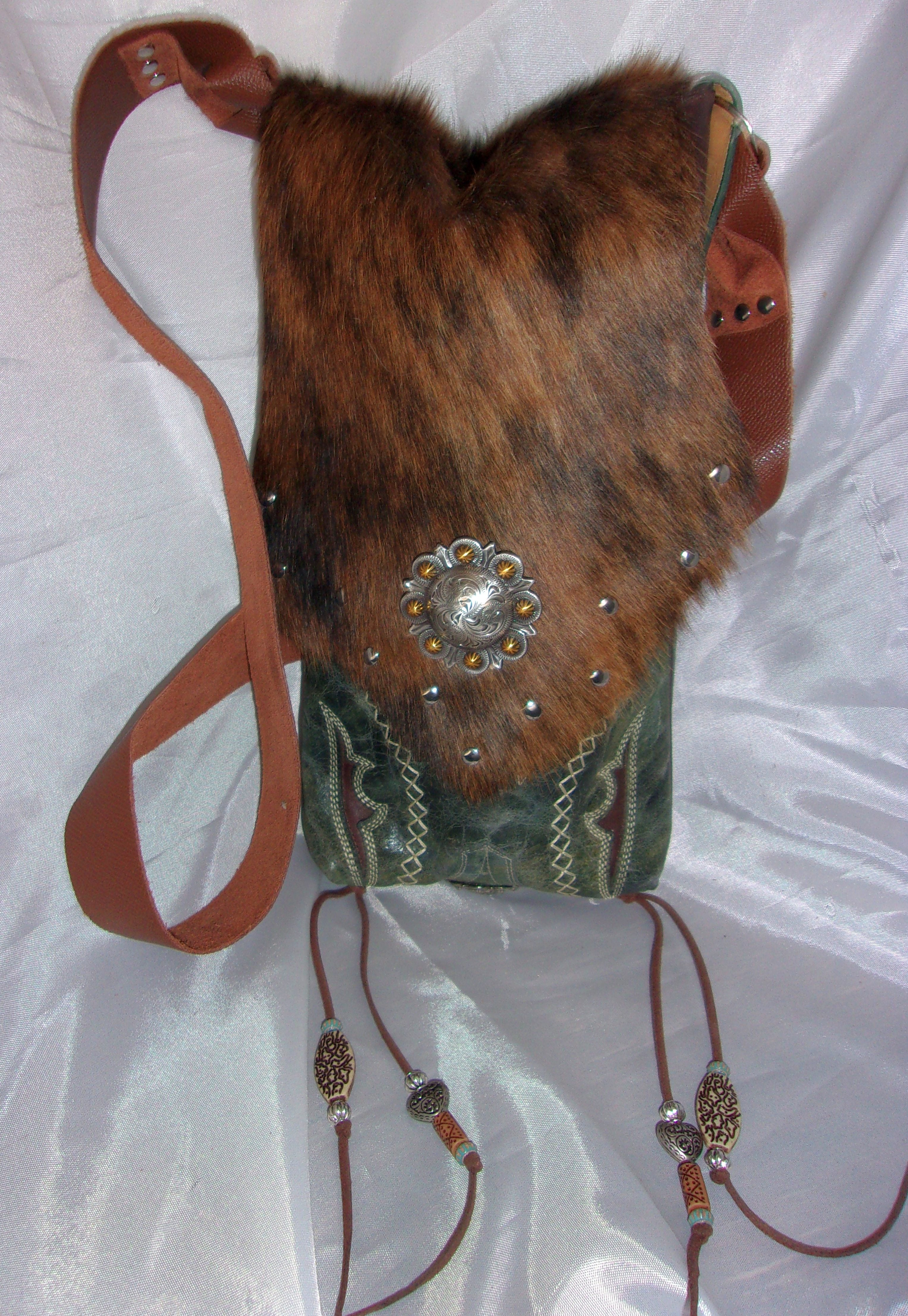 Hair on Hide Bag HH25 - Cowboy Boot Purses by Chris Thompson for Distinctive Western Fashion